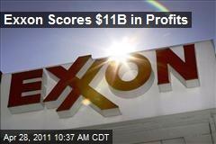 Exxon Scores $11B in Profits