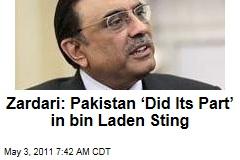 In Osama bin Laden Operation, 'Pakistan Did Its Part,' Insists Asif Ali Zardari in Washington Post Op-Ed