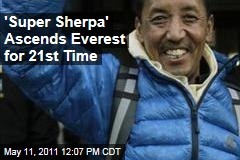 Apa Sherpa Ascends Mount Everest for 21st Time, Breaking His Own Record