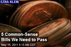 5 Common-Sense Bills We Need to Pass