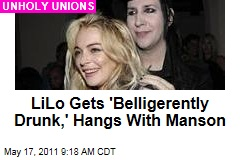 Exciting Weekend: Lindsay Lohan Gets 'Belligerently Drunk,' Then Hangs With Marilyn Manson