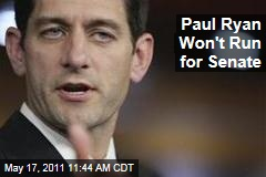 Paul Ryan Won't Run for Senate in Wisconsin, Clearing Way for Tommy Thompson
