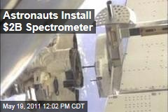 Endeavour Astronauts Install $2B Magnet Cosmic Ray Detector on International Space Station