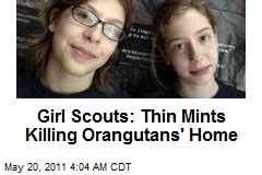 Green Girl Scouts Battle Troop Cookie Biz