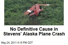No Definitive Cause Found in Former US Sen. Ted Stevens' Alaska Plane Crash