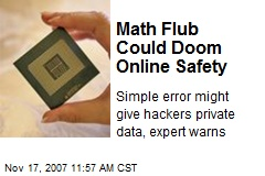 Math Flub Could Doom Online Safety