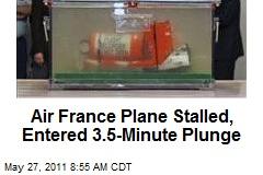 Air France Plane Stalled, Entered 3.5-Minute Plunge