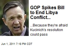 GOP Spikes Bill to End Libya Conflict...