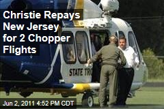 New Jersey Governor Chris Christie Repays NJ for 2 Helicopter Trips