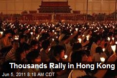 Thousands Rally in Hong Kong