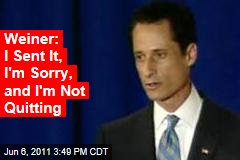 Anthony Weiner: I Sent It, I'm Sorry, and I'm Not Quitting