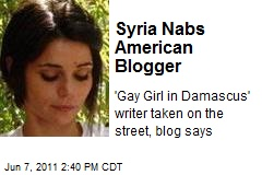 Syria Nabs American Blogger