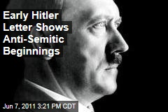 Early Adolf Hitler Document Full of His Anti-Semitic Beginnings