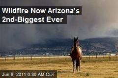 Wildfire Now Arizona's 2nd-Biggest Ever