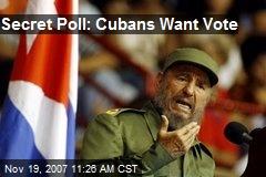 Secret Poll: Cubans Want Vote