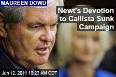 Newt Gingrich's Presidential Aspirations Sunk By Devotion to Wife Callista