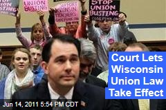 Wisconsin Supreme Court Says Scott Walker's Union Law Can Take Effect