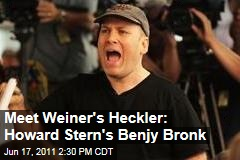 'Howard Stern Show' Staffer Benjy Bronk Is Anthony's Weiner's Main Heckler