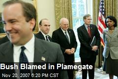 Bush Blamed in Plamegate