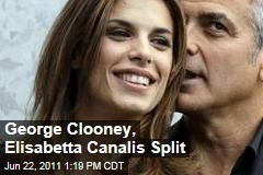 George Clooney and Elisabetta Canalis Break Up After 2 Years