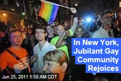 New York Gay Marriage: West Village Celebrates
