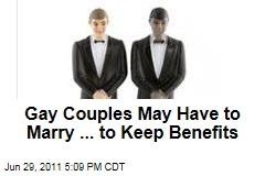 New York Gay Couples May Be Force to Marry... for Health Benefits