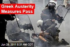 Greek Austerity Measures Pass