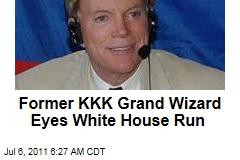 David Duke Eyes White House Run