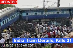 India Train Crash Kills 21, Injures at Least 100