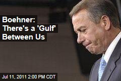 John Boehner Says Debt Ceiling Disagreement 'Not Personal,' Refuses to Raise Taxes