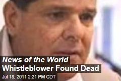 News Of The World Whistleblower Found Dead