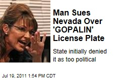 Nevada Man Sues State for Initially Denying Him a 'GOPALIN' plate