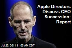 Apple Directors Discuss CEO Succession