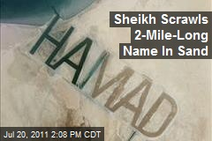 Sheikh Scrawls 2-Mile-Long Name In Sand