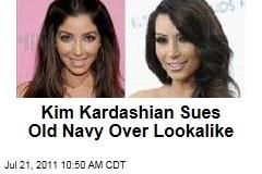 Kim Kardashian Sues Old Navy Over Lookalike Melissa Molinaro