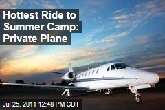 Wealthy Families Pile into Private Jets for Summer Camp