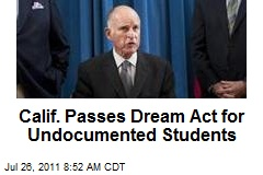 Calif. Passes Dream Act for Undocumented Students