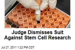 Embryonic Stem Cells Suit: Judge Dismisses Case Against Federal Research