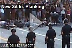 Kaskade Riot: Ravers Plank In Front of Cops