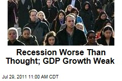 US Economy: Recession Worse Than Thought; GDP Growth Weak