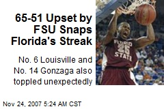 65-51 Upset by FSU Snaps Florida's Streak