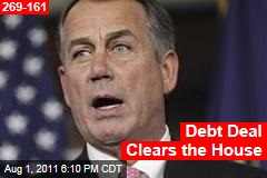 Debt Deal Clears the House
