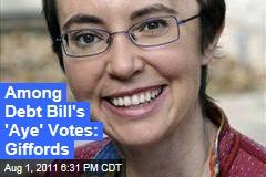 Gabrielle Giffords Returns, Votes in Favor of Debt Ceiling Bill