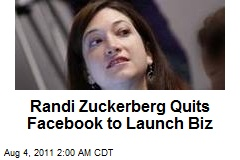 Randi Zuckerberg Quits Facebook to Launch Biz