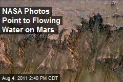 NASA Photos Point to Flowing Water on Mars