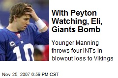 With Peyton Watching, Eli, Giants Bomb