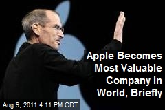 Apple Becomes Most Valuable Company in World, Briefly