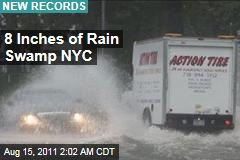 8 Inches of Rain Swamps NYC Record