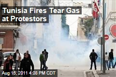 Tunisia Cops Fire Teargas into Crowd of Protestors
