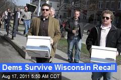 Dems Survive Wis. Recall